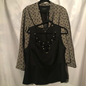Lane Bryant Tailored Jacket and Top Combo Size 16